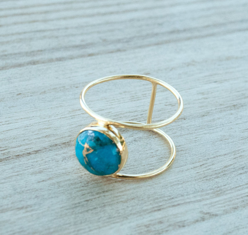 Helen Ring - Gold  Vermeil - Copper Turquoise (BJR001)