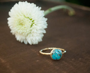Turquoise Ring* Gold Vermeil Ring * Boho Ring* Blue Ring * Gypsy Ring * Handmade * Hippie * Gold Ring * Blue *Bohemian Jewelry BJR063