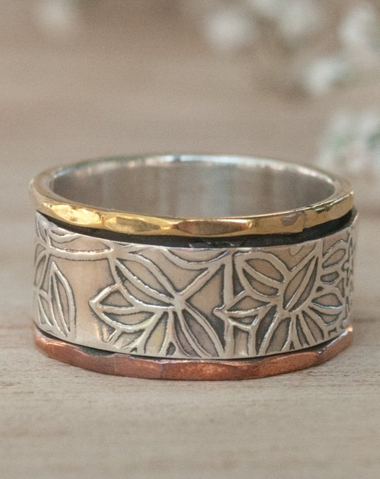 Spinning Ring * Meditation * Spinner * Sterling Silver * Handmade * Handcrafted * Anxiety * Copper * Bronze * Jewelry * Bycila BJS031
