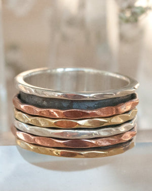Spinner Ring * Meditation * Spinning * Spin * Anxiety * Anti Stress * Sterling Silver * Copper *Jewelry * Bycila * Gift for Her BJS012