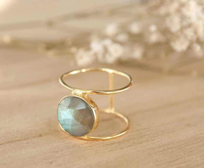 Labradorite Ring * Gold Ring * Statement Ring * Gemstone Ring * Labradorite * Bridal Ring * Wedding Ring * Organic Ring * Natural * BJR004