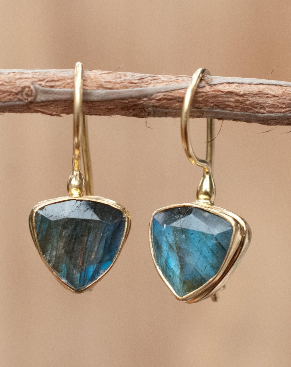 Alicia Earrings * Labradorite * Gold Vermeil * BJE147