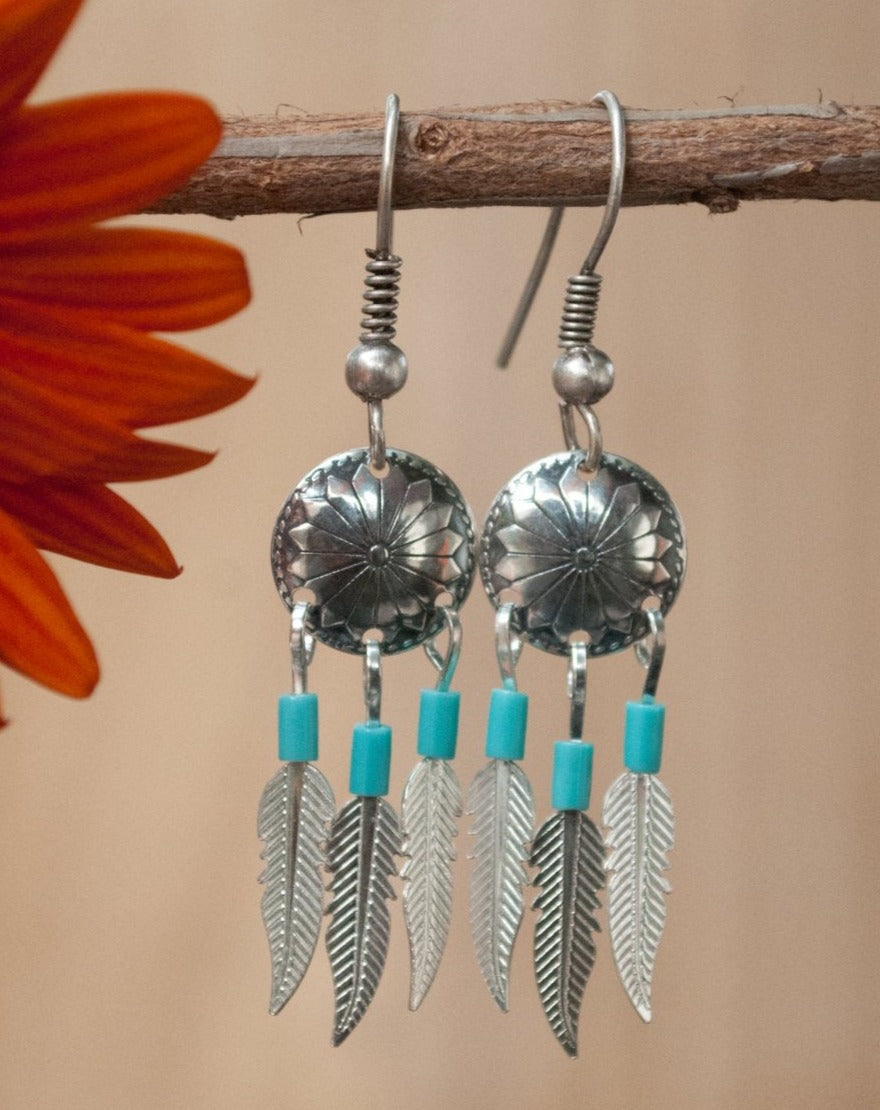 Indie Earrings * Turquoise * Sterling Silver 925 * BJE150