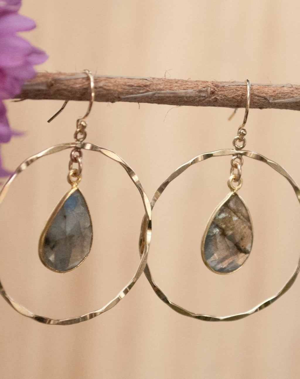 Layse Earrings * Labradorite * Gold Filled or Sterling Silver * BJE060