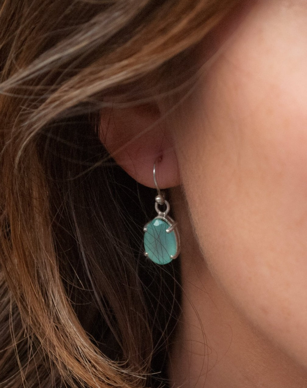 Skylar Earrings * Aqua Chalcedony * Sterling Silver 925 * BJE149