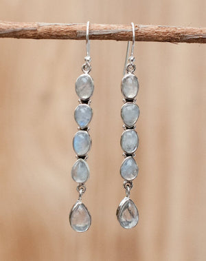 Katy Earrings * Moonstone * Sterling Silver 925 * BJE025