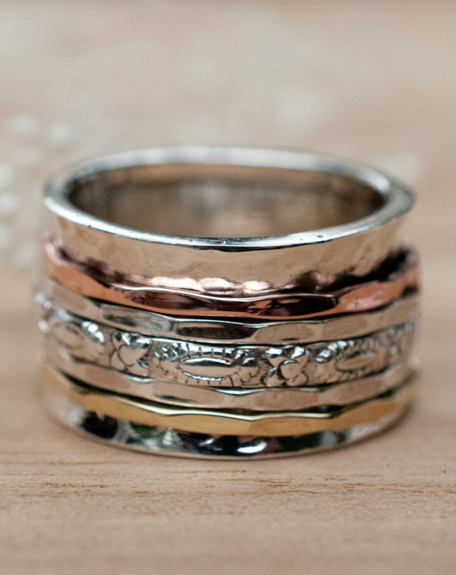 Meditation Ring * Spinner Ring * Spinning Ring * Anxiety Ring * Worry Ring * Boho Ring * Spin Ring * Statement Ring * Yoga * Boho  BJS023