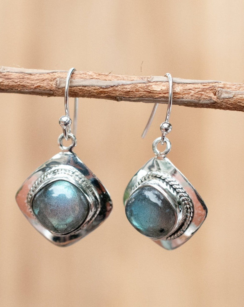 Soraya Earrings * Labradorite * Sterling Silver 925 * BJE037