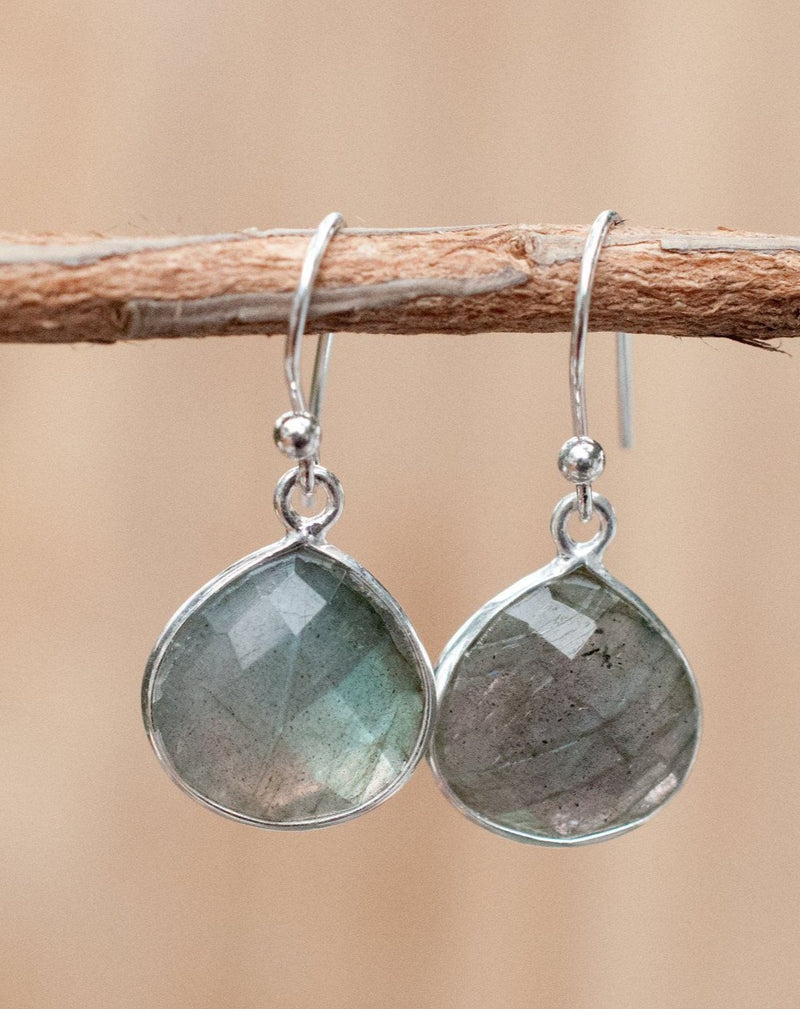 Vera Earrings * Labradorite * Sterling Silver 925 * BJE038