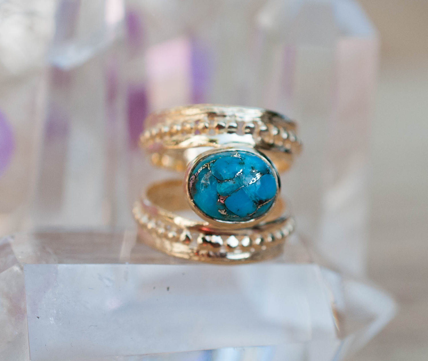 Alana Statement  Ring - Copper Turquoise (BJR025)