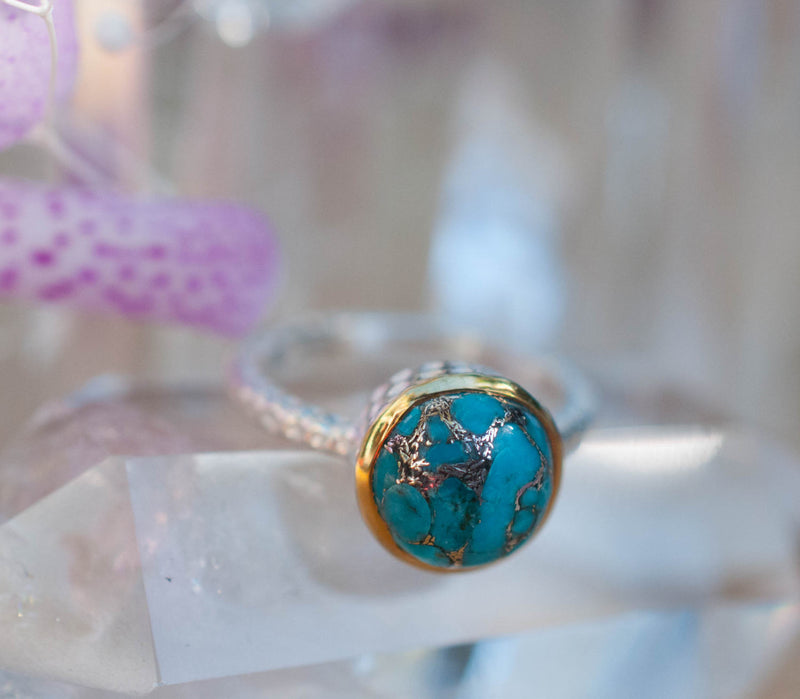 Julie Copper Turquoise Ring (BJR021)