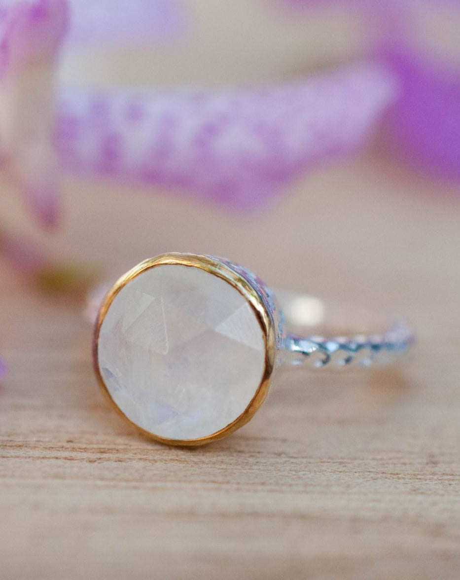 Moonstone Ring * Sterling Silver 925 * Thin * Solitaire * Bridal * Statement * Gemstone * Bridesmaid*White*Handmade*Gift for Her*June*BJR077