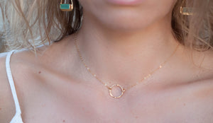 Gold Filled or Sterling Silver Choker * Handmade * Jewelry * Adjustable * Round * Circle * Stackable * Layered Bohemian *Necklace BJN065