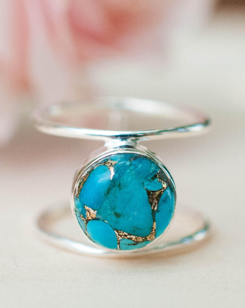 Helen Ring * Copper Turquoise * Sterling Silver 925 * BJR002