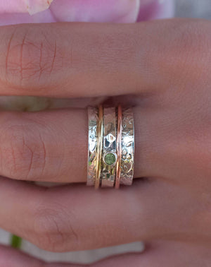 Peridot Spinner Ring * Meditation Ring * Spinning Ring * Anxiety Ring * Worry Ring * Boho Ring * Spin Ring * Statement Ring * BJS017