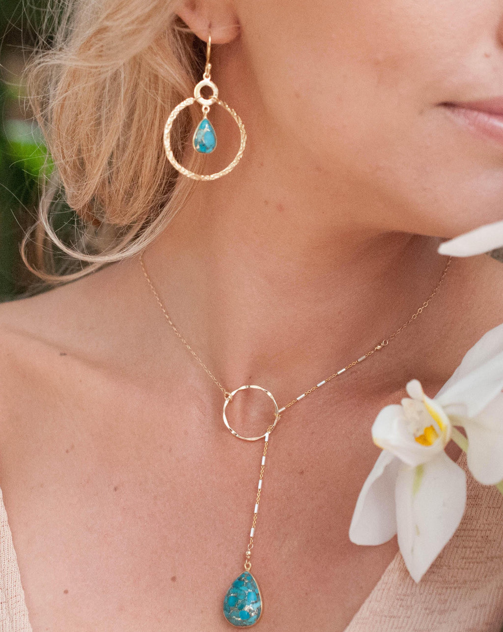 Chloe Earrings - Copper Turquoise (BJE004D)