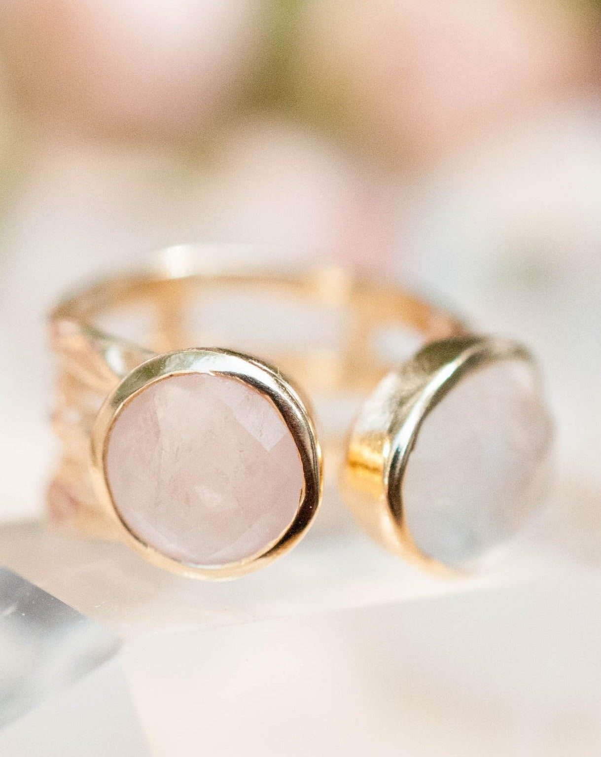 Isa  Ring - Rose Quartz (BJR020)