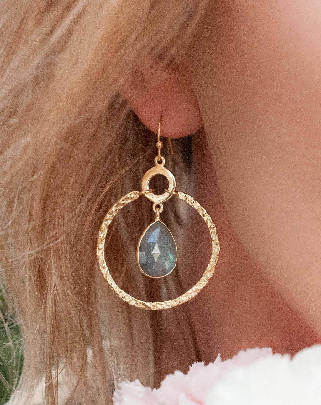 Chloe Earrings * Labradorite * Gold Plated 18k * BJE020