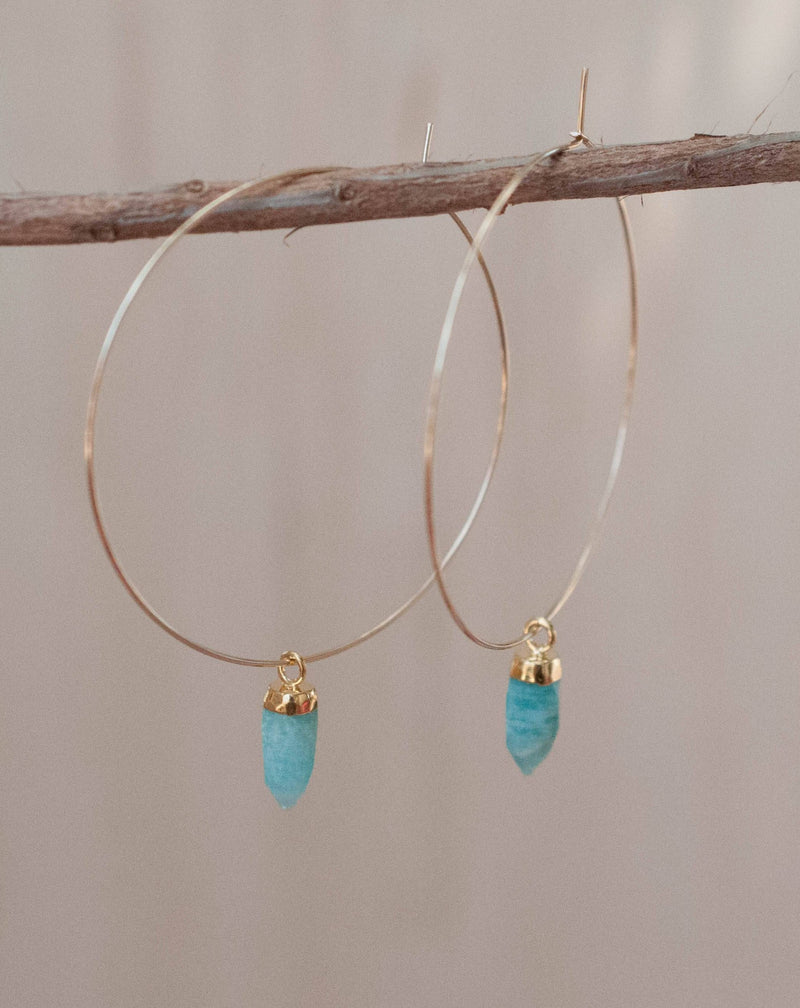 Amelia Earrings * Amazonite * Sterling Silver 925 or Gold Filled * BJE137B