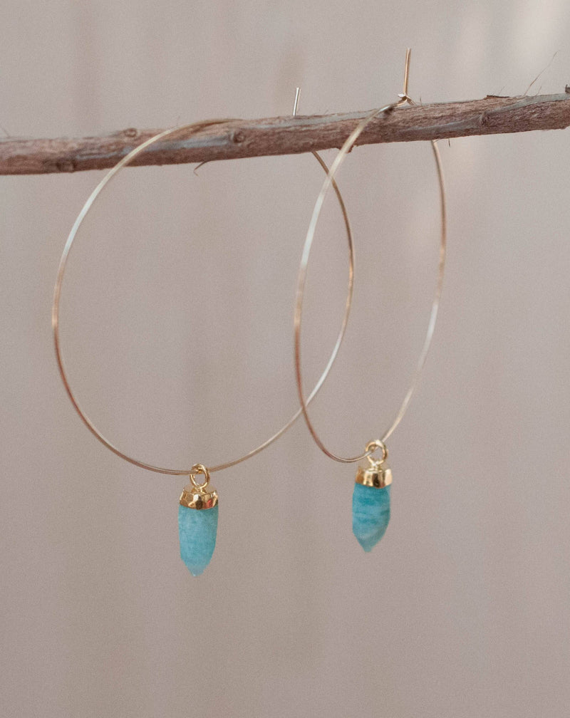 Amelia Earrings * Amazonite * Gold Filled or Sterling Silver 925 * BJE137A