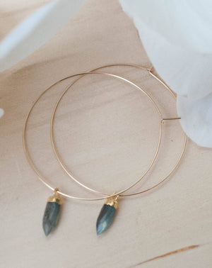 Amelia Earrings * Labradorite * Gold Filled or Sterling Silver * BJE102A