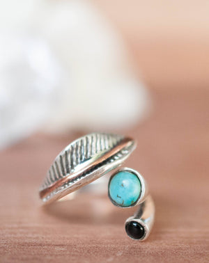 Turquoise Ring * Sterling Silver 925* Statement * Gemstone * Adjustable Turquoise * Organic * Ocean * Blue * Natural* Handmade BJR232
