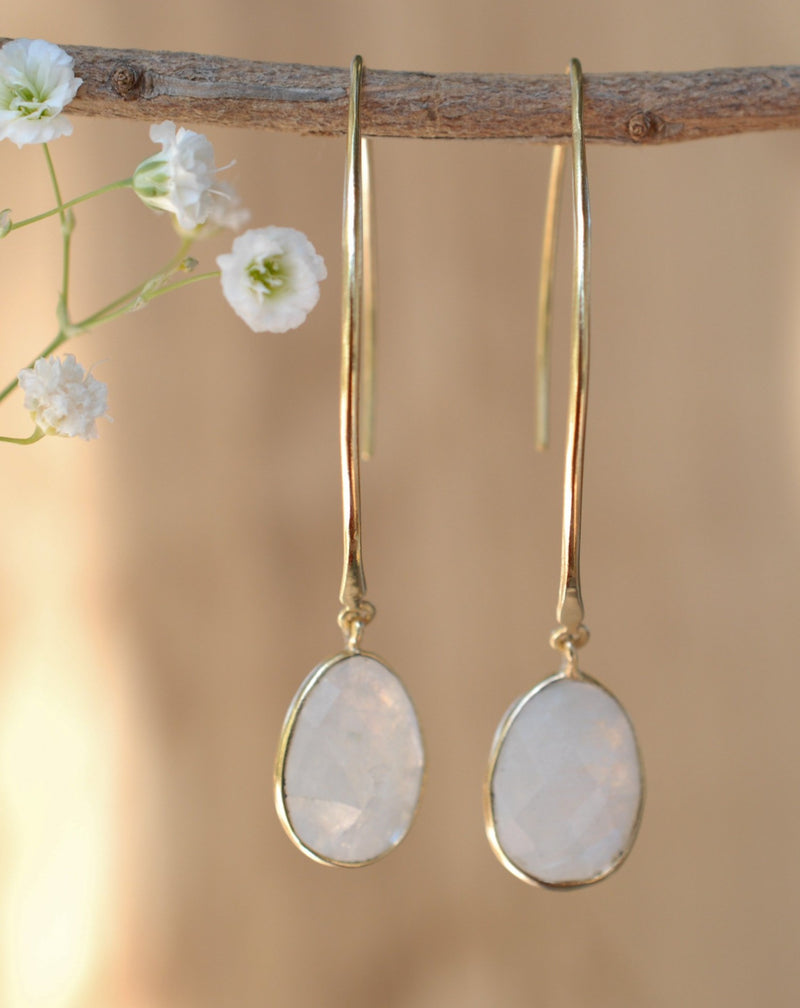 Camila Earrings * Moonstone * Gold Plated 18k * BJE085