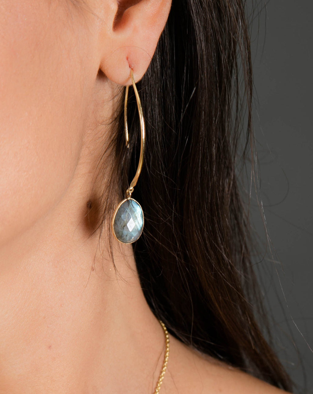 Camila Earrings * Labradorite * Gold Plated 18k * BJE084