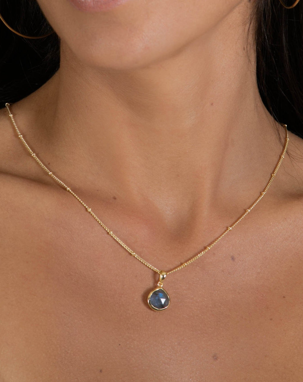 Ana Necklace * Labradorite * Gold Vermeil * BJN010