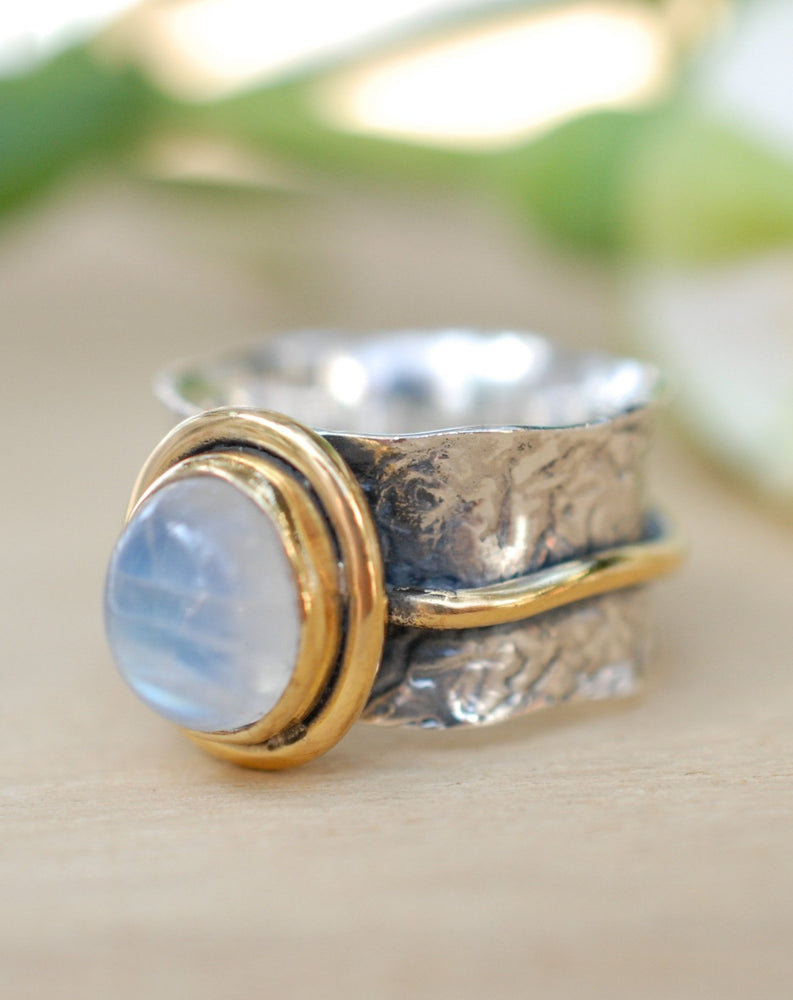 Cassie Ring * Moonstone * Sterling silver and Gold Vermeil * BJR205