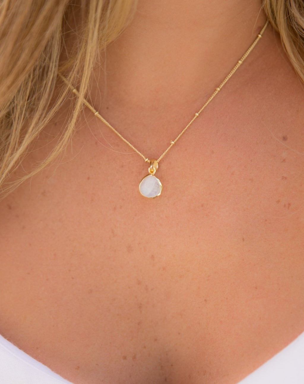 Ana Necklace * Moonstone * Gold Vermeil * BJN009