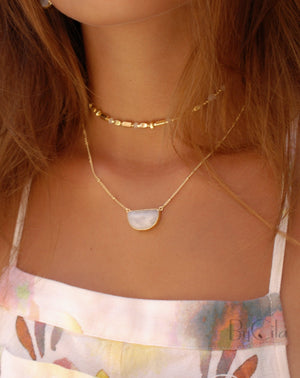 Aurora Choker * Labradorite * Gold Plated , Rose Gold or Silver Plated * BJN014