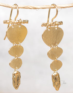 Gold Plated Earrings * Earrings * Elegant * Handmade * Dangle * Lightweight * BJE095