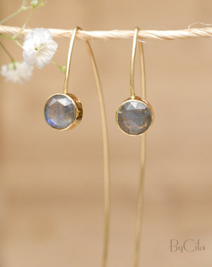 Manuella Earrings * Labradorite * Gold Plated 18k  * BJE052