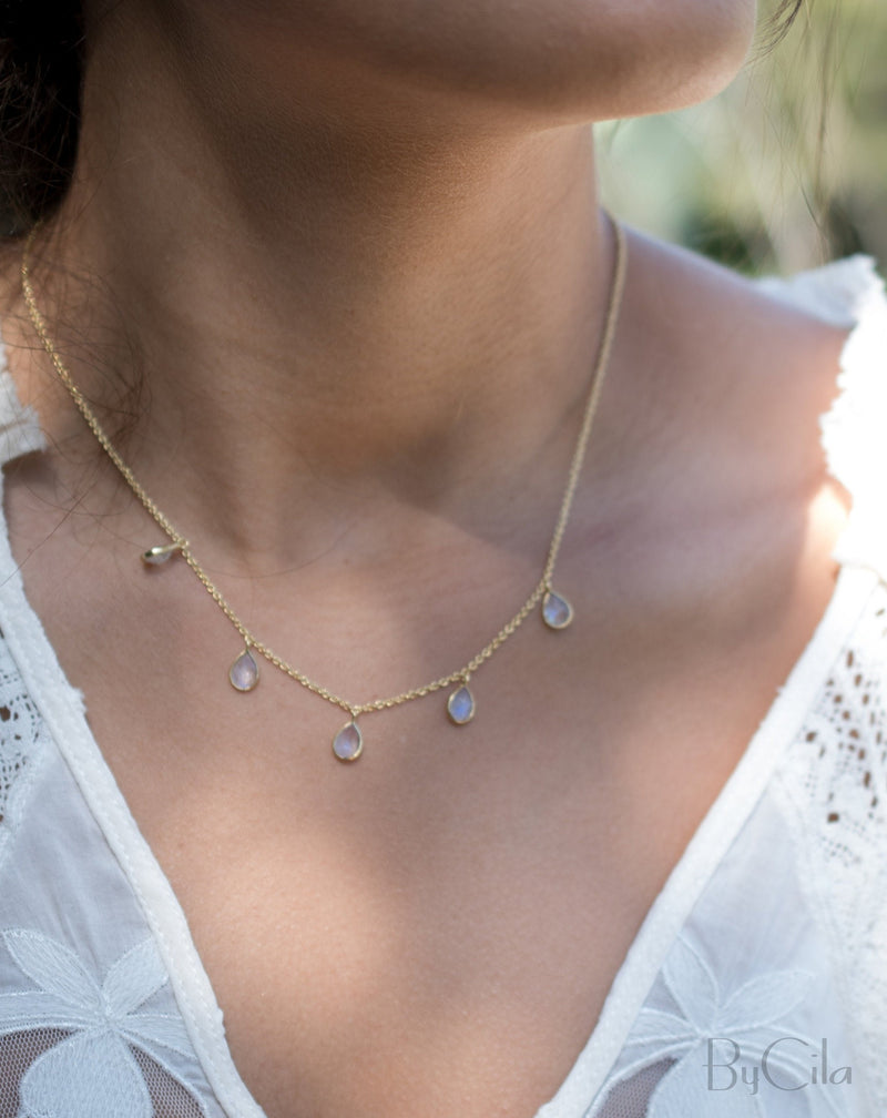 Ava Necklace * Moonstone * Gold Plated 18k * BJN038