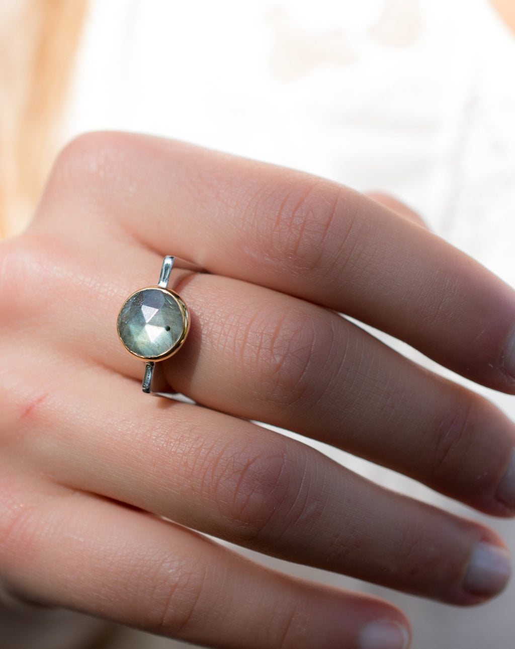 Labradorite Square Ring *  Silver Plated * Statement Ring *Gemstone Ring *Bridal Ring *Organic Ring *Natural * BJR166