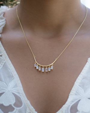 Emilly Necklace * Moonstone or Labradorite Necklace * Gold Vermeil * BJN033