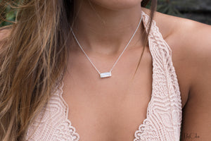 Moonstone Rectangle Bar Necklace * Gold Vermeil or Sterling Silver * Handmade * Layered * Gemstone * Gift for Her * Elegant * BJN027B