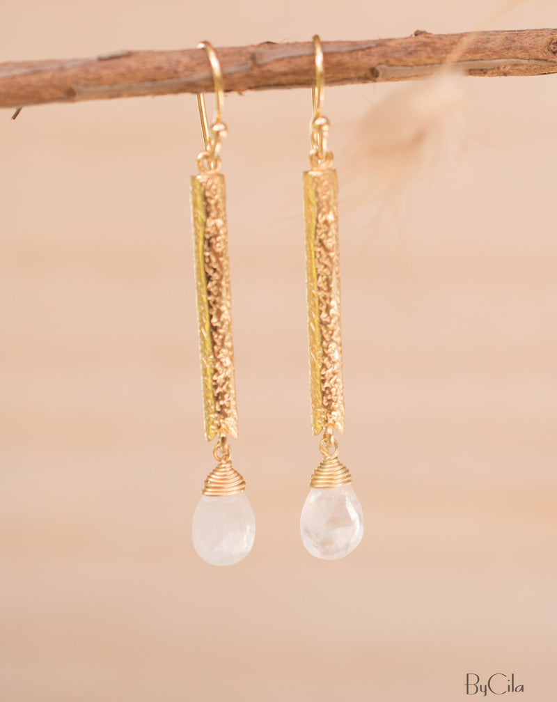 Catarina Earrings * Moonstone * Gold Plated 18k * BJE133