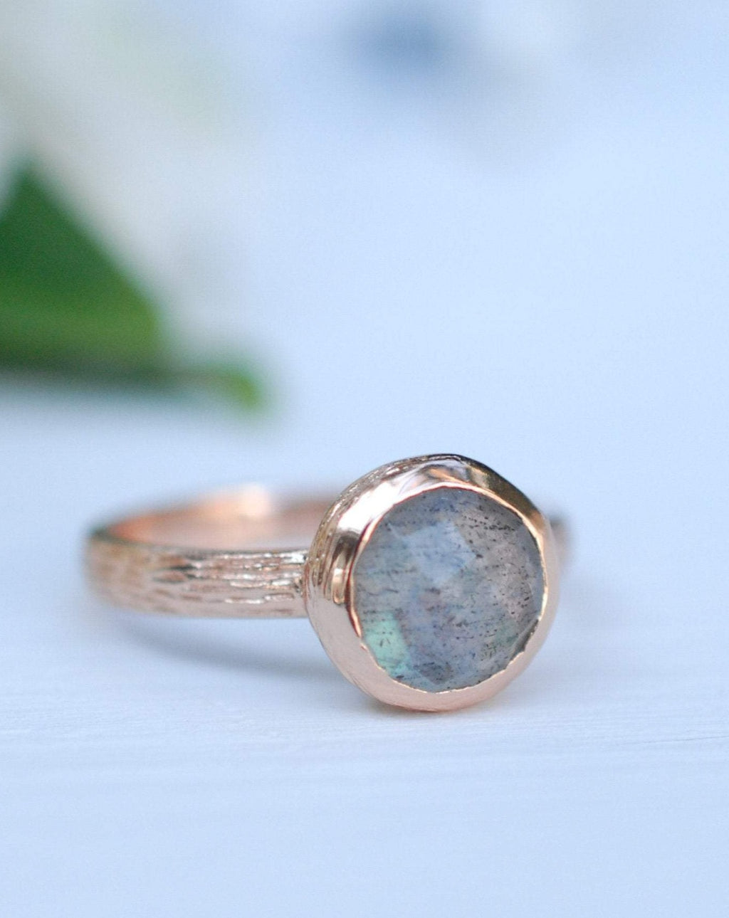 Rainbow Labradorite Rose Gold Ring * Boho * Organic * handmade * Gypsy * Bridesmaid* Solitaire * Bridal * BJR209