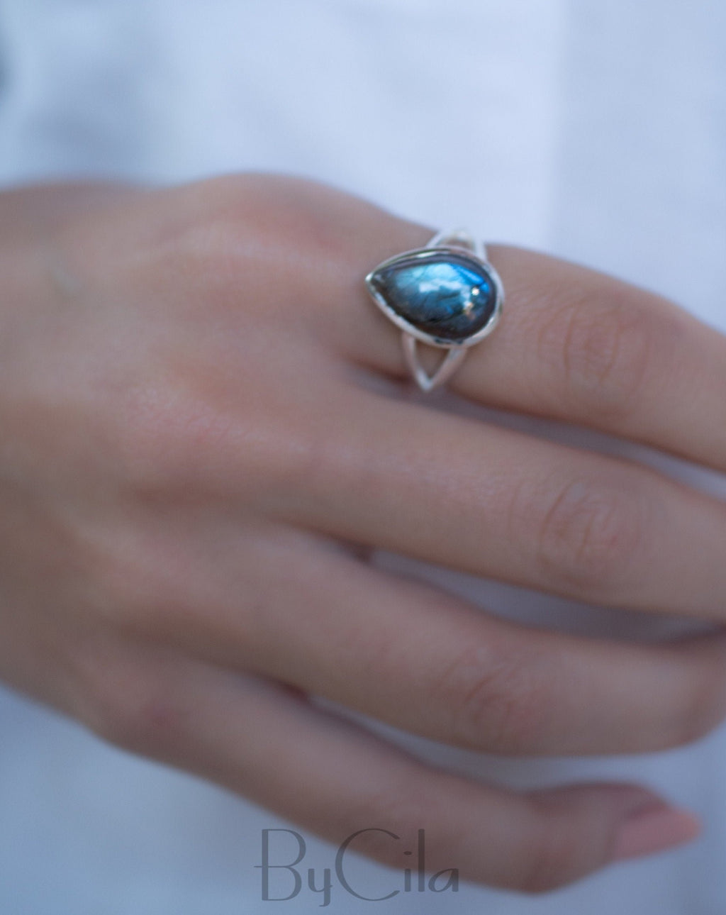 Tear Drop Labradorite Ring * Sterling Silver 925 * Handmade * Gemstone * Jewelry *Boho *Bohemian *Statement *Hippie * Gift for her BJR190