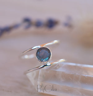 Labradorite Ring * Sterling Silver Ring * Statement Ring * Gemstone Ring * Labradorite * Bridal Ring * Wedding Ring * Organic Ring * BJR032