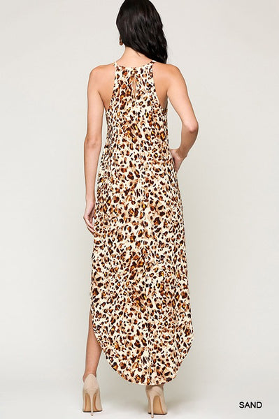 Leah Leopard Maxi Dress