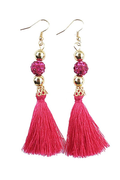 Bohemian Tassel Color Gem Earring