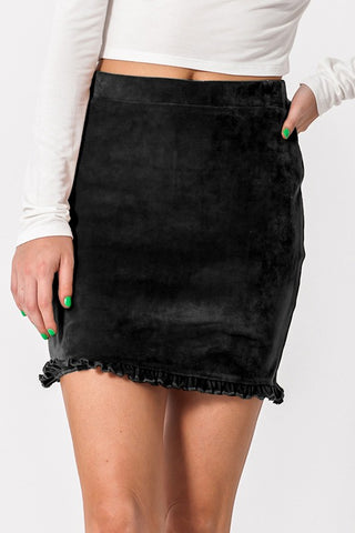 Ruffled Minii Skirt