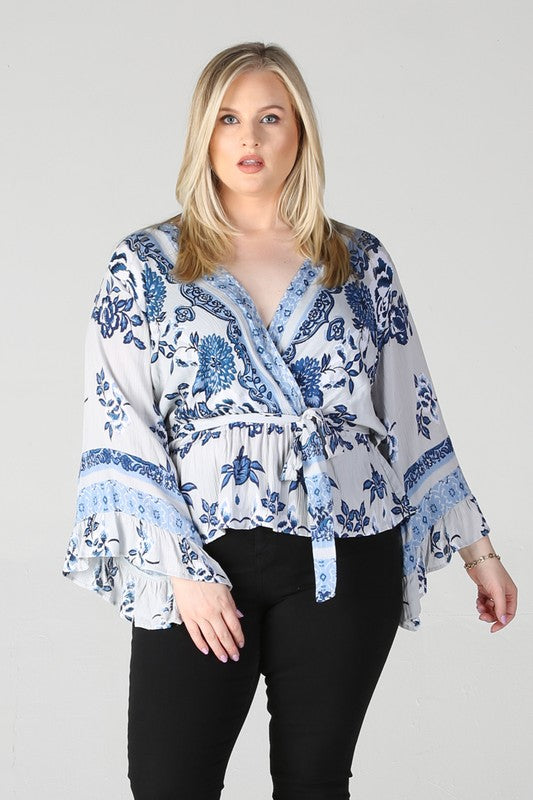 Paisley Floral Curvy Top
