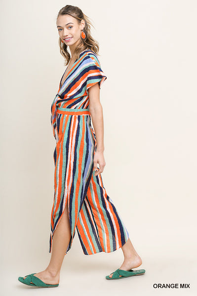 River Striped Jumpsuit