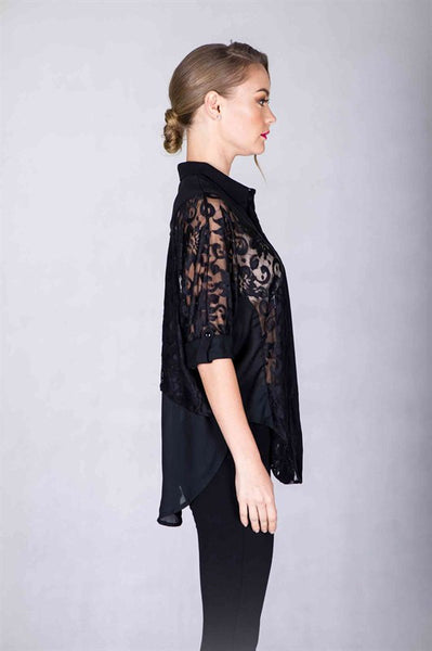 Sheer Lace Blouse