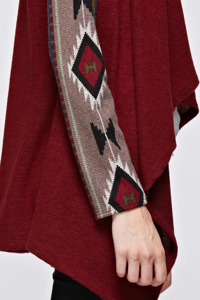 Aztec Open Front Knit Cardigan