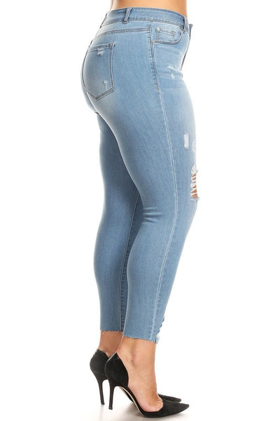 Camila Curvy Distressed Jeans